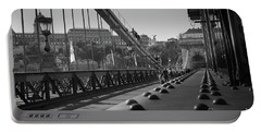 The Chain Bridge, Danube Budapest Portable Battery Charger