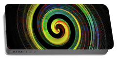 Portable Battery Charger featuring the digital art The Chameleon Snake Skin by Steve Taylor