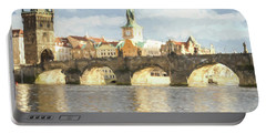 Portable Battery Charger featuring the photograph The Charles Bridge by Wade Brooks