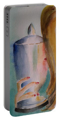The Cherished Moment Impressionistic Contemporary Art  Portable Battery Charger
