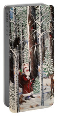 The Christmas Forest Visitor Portable Battery Charger