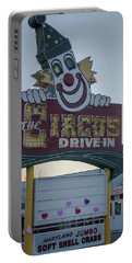 Portable Battery Charger featuring the photograph The Circus Drive In Sign Wall Township Nj by Terry DeLuco