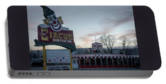 Portable Battery Charger featuring the photograph The Circus Drive In Wall Township Nj by Terry DeLuco