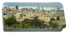 The City From Dolores Park Portable Battery Charger