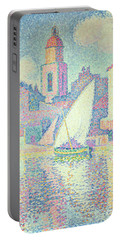 The Clocktower At St Tropez, 1896  Portable Battery Charger