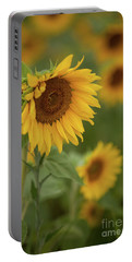 The Close Up Of Sunflowers Portable Battery Charger