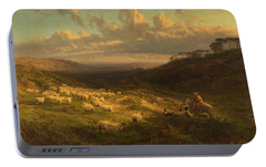 The Closing Day, Scene In Sussex Portable Battery Charger by George Vicat Cole