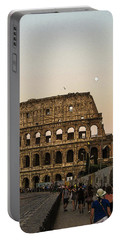 The Coliseum And The Full Moon Portable Battery Charger