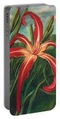 Portable Battery Charger featuring the painting Triumph Of Red by Randol Burns