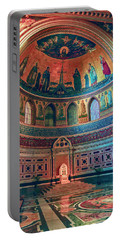 The Colorful Interior Of Roman Catholic Cathedral Portable Battery Charger