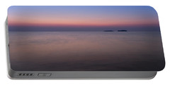 Dawn At The Mediterranean Sea Portable Battery Charger