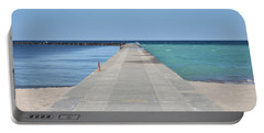Portable Battery Charger featuring the photograph The Colors Of Lake Michigan by Fran Riley