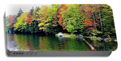 The Colors Of Lake Raponda - Wilmington, Vermont Portable Battery Charger