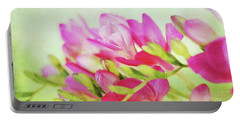 Portable Battery Charger featuring the photograph Colour Full Freesia by Connie Handscomb
