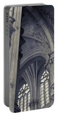 Portable Battery Charger featuring the photograph The Columns Of Saint-eustache, Paris, France. by Richard Goodrich