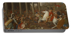 The Conquest Of Jerusalem By Emperor Titus By Nicolas Poussin, 1638. Portable Battery Charger