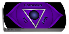 Third Eye Brow Chakra Art Print Inspirational Quote Prints  Portable Battery Charger