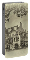 The Corner Room In Sepia Portable Battery Charger by Tom Gari Gallery-Three-Photography