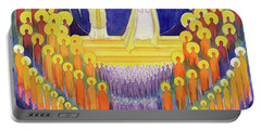 The Coronation Of The Virgin Mary And The Glory Of All The Saints Portable Battery Charger