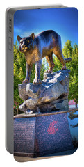 The Cougar Pride Sculpture Portable Battery Charger