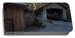 The Covered Bridge At Cedar Creeks Grist Mill Portable Battery Charger