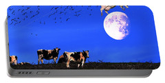 The Cow Jumped Over The Moon Portable Battery Charger