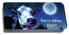 The Cow Jumps Over The Moon Portable Battery Charger