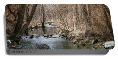 Portable Battery Charger featuring the photograph The Creek by Judy Wolinsky