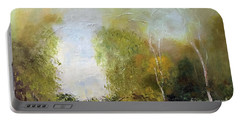Portable Battery Charger featuring the painting The Creek by Marlene Book