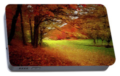 Portable Battery Charger featuring the painting The Crimson Season P D P by David Dehner