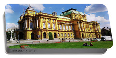 The Croatian National Theater In Zagreb, Croatia Portable Battery Charger by Jasna Dragun