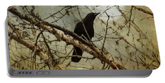 The Crow And The Moon Portable Battery Charger by Theresa Tahara