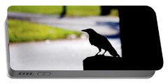 Portable Battery Charger featuring the photograph The Crow Awaits by Karol Livote