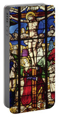 The Crucifixion, Stained Glass Window Portable Battery Charger