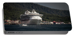 Portable Battery Charger featuring the photograph The Cruise Ship And The Plane by Timothy Latta