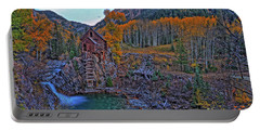 Portable Battery Charger featuring the photograph The Crystal Mill by Scott Mahon