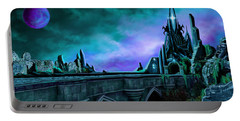 Portable Battery Charger featuring the painting The Crystal Palace - Nightwish by James Christopher Hill