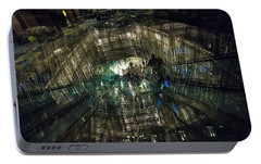Portable Battery Charger featuring the photograph The Crystal Station by Alex Lapidus