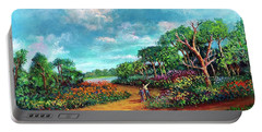 Portable Battery Charger featuring the painting The Cycle Of Life by Randol Burns
