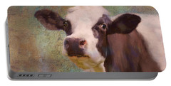 Portable Battery Charger featuring the mixed media The Dairy Queen by Colleen Taylor