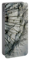 Portable Battery Charger featuring the digital art The Dandelion Silhouette by Steve Taylor