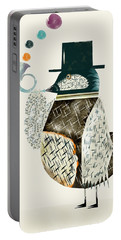 Portable Battery Charger featuring the painting The Dapper Bird by Bri B