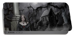 Portable Battery Charger featuring the painting The Dark Caster Awaits by James Christopher Hill