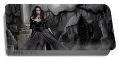 Portable Battery Charger featuring the painting The Dark Caster Comes by James Christopher Hill