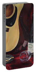 Portable Battery Charger featuring the painting The Dark Times by Kim Lockman