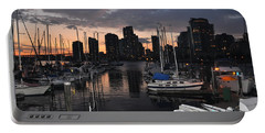 The Day Ends At The Marina Portable Battery Charger