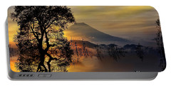 Portable Battery Charger featuring the digital art The Days Blank Slate by Chris Armytage