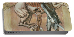 The Death Of Medusa I Portable Battery Charger by Edward Coley Burne-Jones