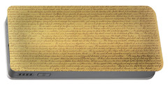 The Declaration Of Independence Portable Battery Charger