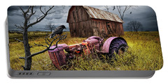 Portable Battery Charger featuring the photograph The Decline And Death Of The Small Farm by Randall Nyhof